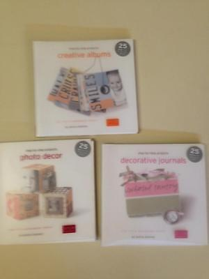 Lot 3 Step-by-Step Project Book Donna Downey Photo Decor Creative Album -