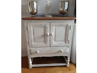 Refurbished Ercol credence cabinet - shabby chic