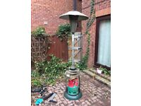 Patio heater with patio gas bottle