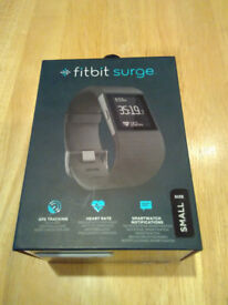 Fitbit Surge Fitness Super Watch. GPS / Heart Rate Monitor / Smart Watch Notifications Size Small
