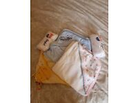 Baby bath towels x5 some brand new