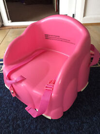 Nearly new portable Mother Care pink baby seat
