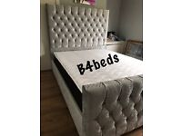 DOUBLE PRINCESS / CUBE HIGH HEAD DIAMOND BED AND ORTHOPAEDIC MATTRESS