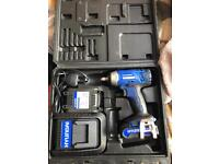 Portable impact wrench with impact sockets set