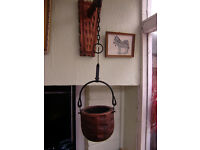 Wooden Wall Corner Unit + Wooden Hanging Basket