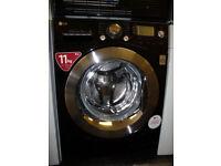 LG Washing Machine - 11 KG - Black & Chrome