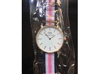 daniel wellington Watch Pink Blue White