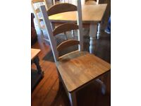 Country cottage table and 4 chairs