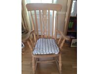 Beechwood rocking chair