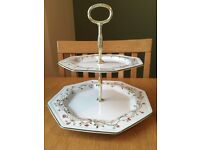 16x eternal beau coffee/tea cups and saucers and cake stand