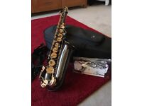 Trevor James Alpha Sax - Black Nickel with Gold Laquer Keys in Excellent Condition
