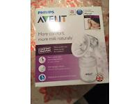 Phillips Avent manual breast pump- new