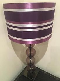 Purple stripe Lampshade