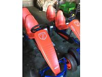 TWO Berg two seater go karts with extra seats