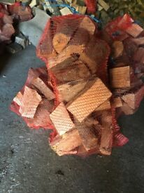 Quality seasoned hardwood logs large sacks £5