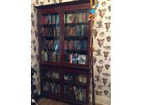 Large mahogany bookcase (H218 cm x D30cm x L122cm)
