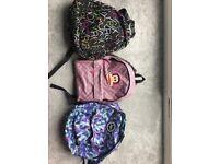 3 Branded Rucksacks