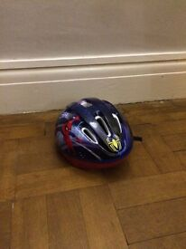 Childs Spiderman cycling helmet