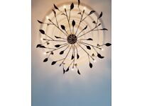 Black Glass leaf Chandeliers