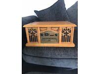 Wooden record player/cd/radio