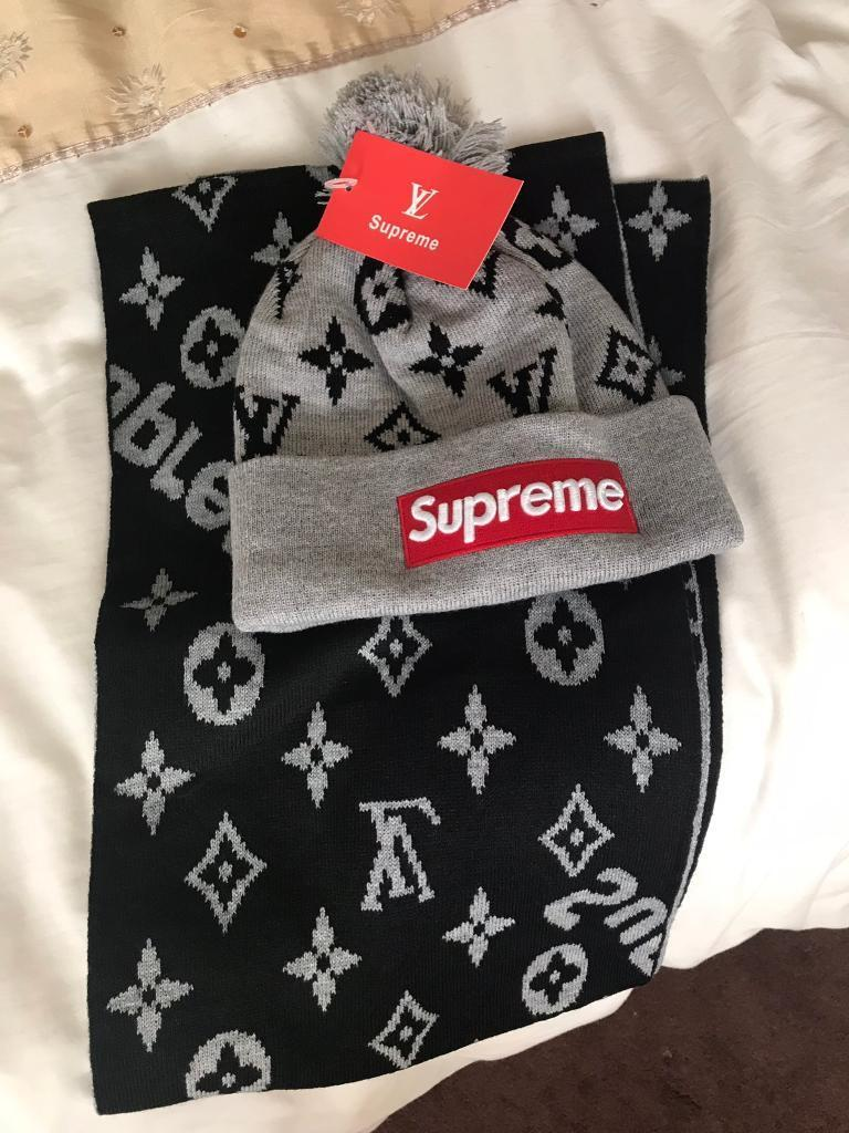 e1fed2dab7b Louis Vuitton hat and scarf set