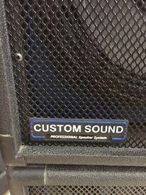 Custom sound 250w speakers