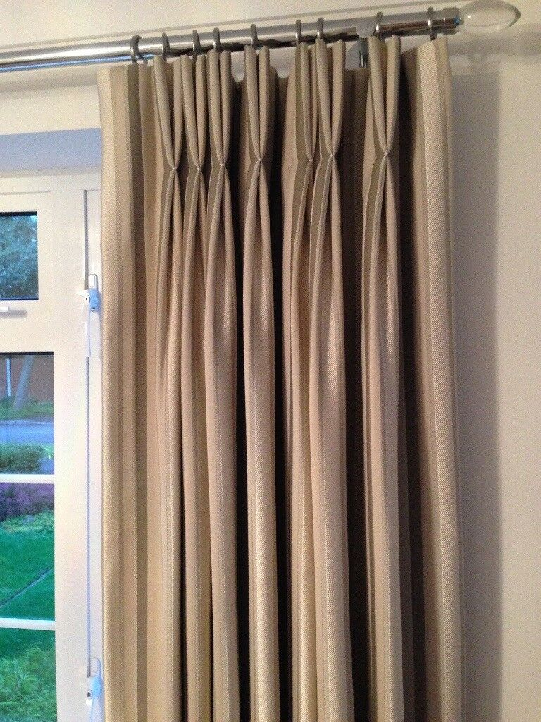 Double Pinch Pleat Curtains Laura Ashley In Lower