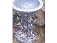 Beautiful big solid mother and child bird bath