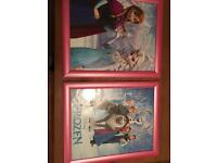 2 x large Frozen wall hanging pictures.