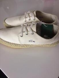 Lacoste trainer size 4 new in box