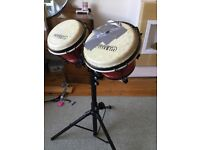 Set of bongos and stand (1to1 music )