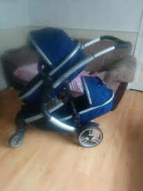 Double pram and boys clothes