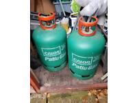 Patio gas bottles x 2