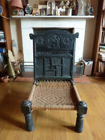 Indian carved wooden chair