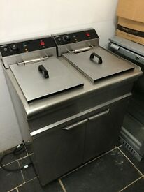 Commercial double chips fryer