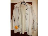 Regatta Keeta Stretch Waterproof Hooded Jacket Barley White RWW166 Size 26