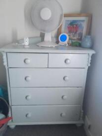 Shabby chic baby blue drawers
