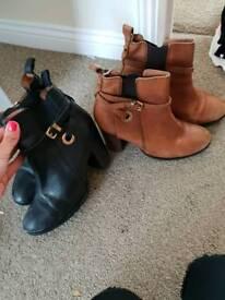 Kurt geiger boots tan and black size 4