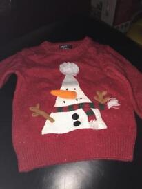 Christmas jumper boys from next age 12-18 months excellent condition