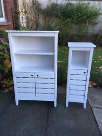 2 Lovely White Bathroom Units from Next
