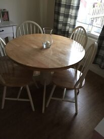 Real wood country table and chairs (original not upcycled)
