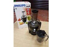 Philips HR1867/21 Viva Collection Juicer, Black/Stainless Steel