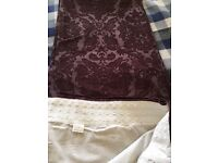 Fully lined Plum full length curtains £54.00