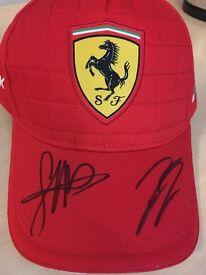 Ferrari F1 signed Baseball cap by Sebastian Vettel and Kimi Raikkonen