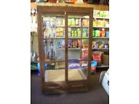 Hand made shop display cabinet