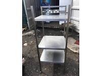 Commercial stainless steel shelf table