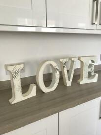French Vintage LOVE Set Letters