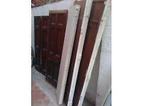 Large dismantled Edwardian cupboard
