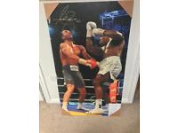 Signed Anthony Joshua Canvas