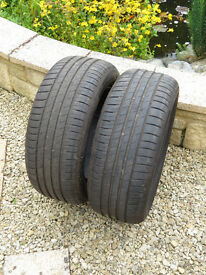 Goodyear Effieicnt Grip tyres 225x55x R16 - W speed rated -virtually new
